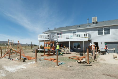 CM Cares work project - exterior, prepping deck