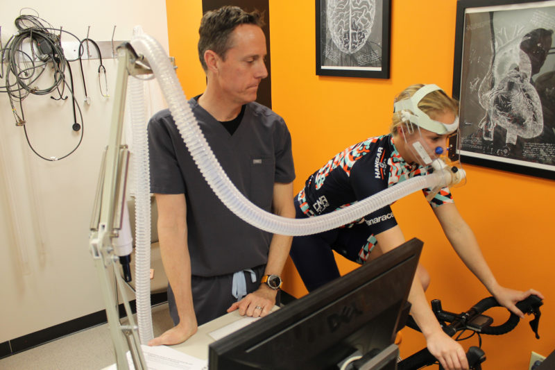 physician supervising vo2 max testing