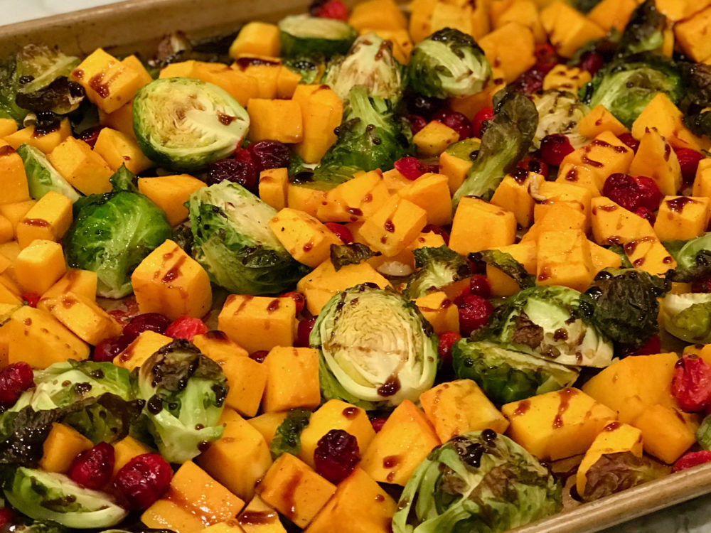 brussles sprouts and squash