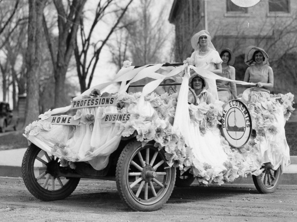 Home Economics float from the 1930s