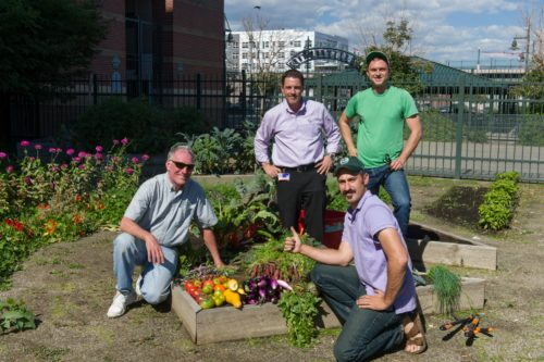 Brian Dunbar and colleagues in the Coors Field GaRden
